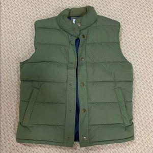 GAP forest green puffer vest.